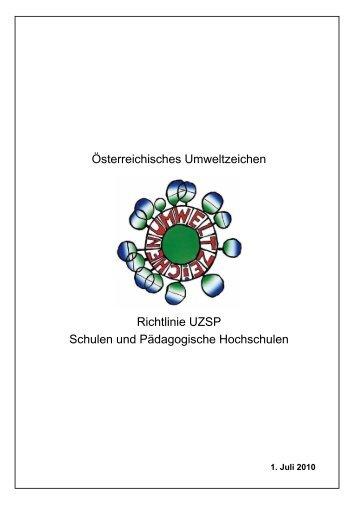 Richtlinie - Das Österreichische Umweltzeichen