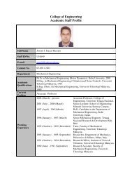 College of Engineering Academic Staff Profile - Uniten