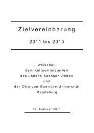 Otto-von-Guericke-Universität Magdeburg - WZW ...