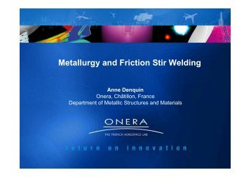 Metallurgy and Friction Stir Welding