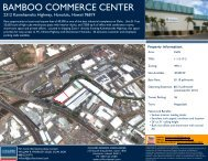 BAMBOO COMMERCE CENTER - Oahu Industrial