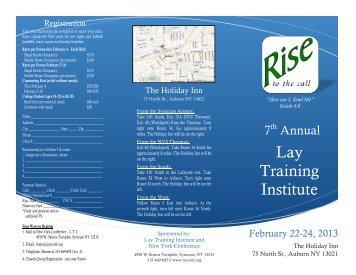 New York Conference Lay Training Instuitute - Capital Region SDA ...