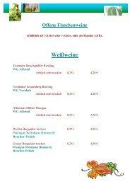 Weißweine - Engel Vimbuch