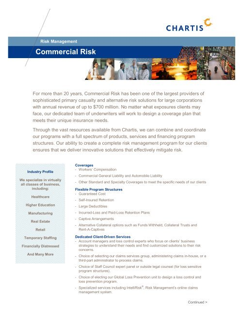 Commercial Risk Highlight Sheet [pdf] - Chartis