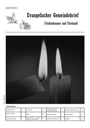 Advent 2012 - Evangelische Kirchengemeinde Frickenhausen