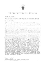 Download der Förderer Nachricht Nr. 13 - Landshuter Hochzeit