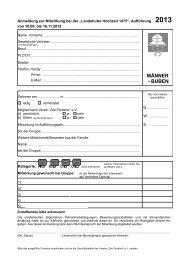 Anmeldeformular 2013 Männer / Buben - Landshuter Hochzeit