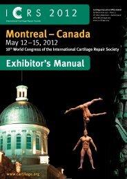 Exhibitor's Manual - International Cartilage Repair Society