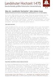 Wissen als PDF-Datei zum Ausdrucken - Landshuter Hochzeit