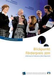 Blickpunkt Förderpreis 2011 - Aktive Bürgerschaft e.V.