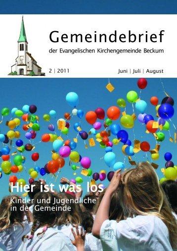 Gemeindebrief 11-2.qxd - Evangelische Kirchengemeinde Beckum