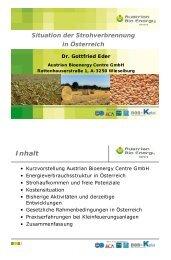 Die Situation der energetischen Nutzung von Stroh in Österreich - TLL