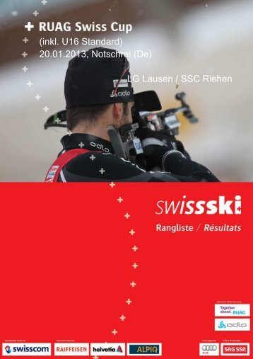 (inkl. U16 Standard) 20.01.2013, Notschrei (De) LG ... - Swiss-Ski