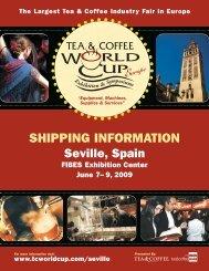 SHIPPING INFORMATION - Tea & Coffee World Cup