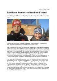 Biathleten dominieren Rund um Fröhnd - Skiclub Hinterzarten