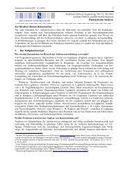 Datenstrom-Analyse - Software Engineering - JKU