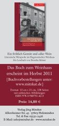 Verlagsflyer (PDF) - Weinhaus Römer - Bad Karlshafen