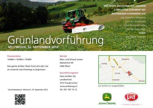 Einladung - Hans Anliker AG • Landtechnik • Fraubrunnen