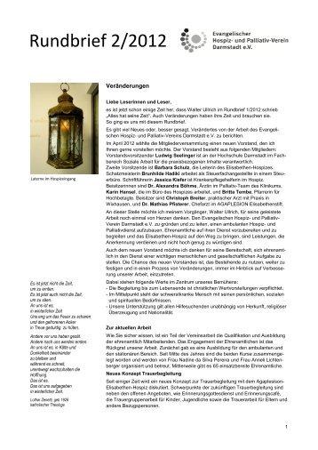 Infobrief 2/12 - Evangelischer Hospiz