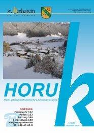 HORUK Ausgabe 6 - Gemeinde St. Katharein an der Laming