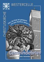 Ausgabe 2005 - Kirchengemeinde Westercelle
