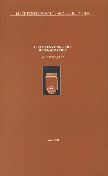 1999 - Liechtensteinische Landesbibliothek