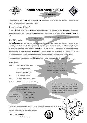 Pfadfinderakademie 2013 - BdP - Landesverband Niedersachsen