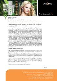 Sommer fürs Haar – Pro-Duo präsentiert sechs - Menschen im Salon