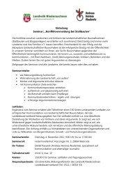 Seminar Stallbauten - Landvolk Niedersachsen
