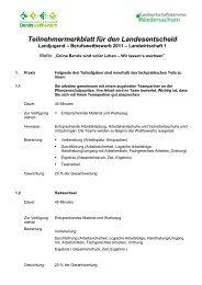 Teilnehmermerkblatt für den Gebietsentscheid