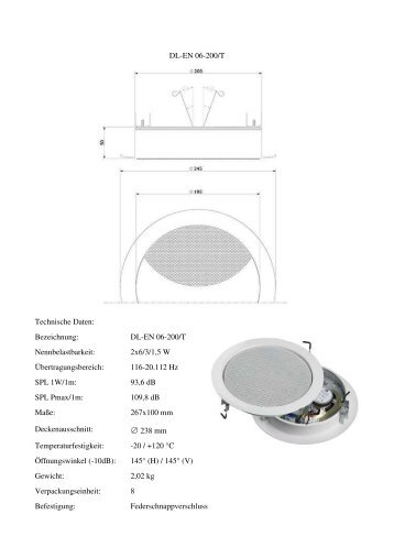 DL-EN 06-200/T Nennbelastbarkeit - Elektro Krahe Gmbh