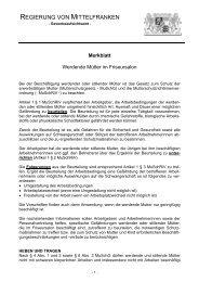 Werdende Mütter im Friseursalon - Regierung von Mittelfranken ...
