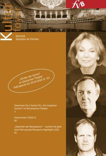 09/2010 Spielplan ab Oktober - Freie Volksbühne Berlin