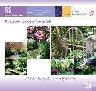 Ratgeber für den Trauerfall - Friedhöfe Kiel