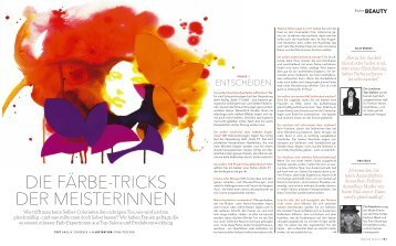 Die Färbetricks der Meisterinnen - Sassoon Salon