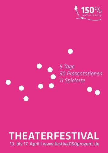 5 Tage 30 Präsentationen 11 Spielorte - Theaterfestival 150% made ...
