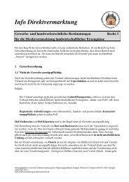 Gewerbe- und handwerksrechtliche Bestimmungen
