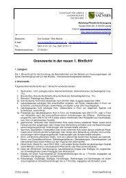 Grenzwerte in der neuen 1. BImSchV - Landwirtschaft in Sachsen