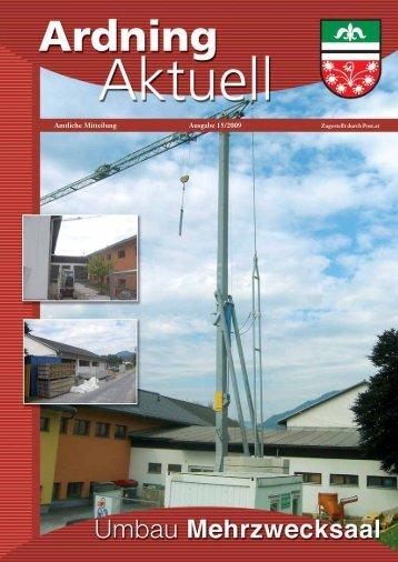 Amtliche Mitteilung Ausgabe 15/2009 - Ardning