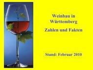 Weinbau in Württemberg Zahlen und Fakten