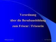 Verordnung über die Berufsausbildung zum Friseur / Friseurin
