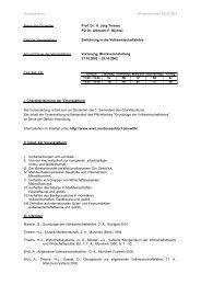 Vorlesungsunterlagen - Heinrich-Heine-Universität Düsseldorf