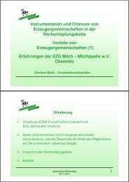 Instrumentarien und Chancen von Erzeugergemeinschaften in der ...