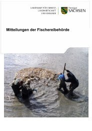 Mitteilungen der Fischereibehörde - Landwirtschaft in Sachsen ...