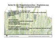 Sorten für den Stoppelweizenanbau - Landwirtschaft in Sachsen