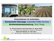 Permanente Fahrwege und Streifenbearbeitung - Landwirtschaft in ...