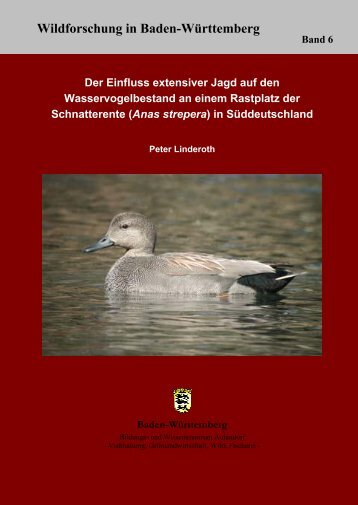 Der Einfluss extensiver Jagd auf den Wasservogelbestand am