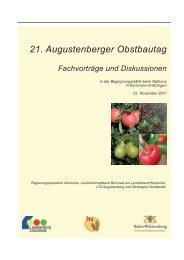 obstbau_Tagungsband des 21. Augustenberger Obstbautages 2011