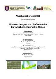 Abschlussbericht 2008 Untersuchungen zum Auftreten der ...
