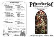 Herbst-06 - 5-Jahre-Propsteipfarrei-St. Augustinus - Propstei St ...